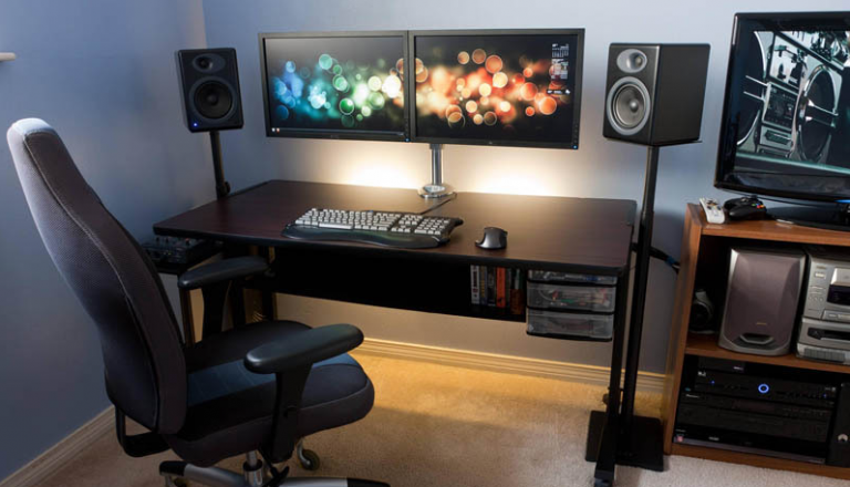 How to Fit Two Monitors on a Small Desk